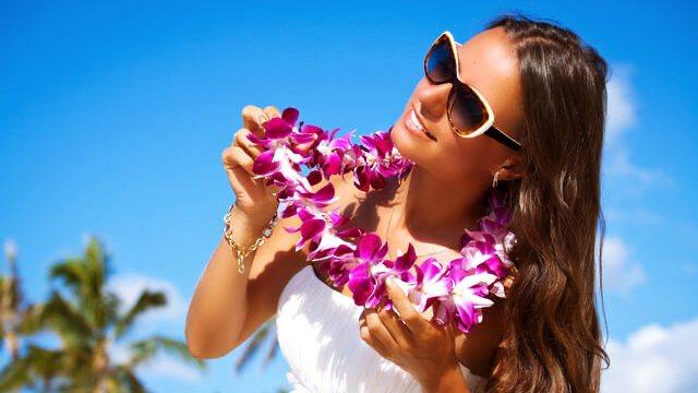 ハワイのフラワーレイ